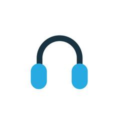 headphone colorful icon symbol premium quality vector image