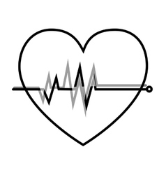 heart care isolated icon vector image