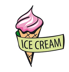 Logo ice cream and tape vector