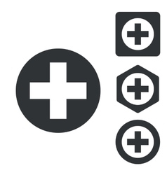 Medical icon set monochrome vector image