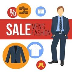 Men fashion clothes sale vector