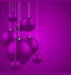 Modern purple christmas balls background vector