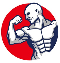 muscle man pose vector image vector image