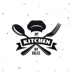 My kitchen rules lettering poster vintage vector image vector image