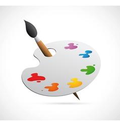 Painters palette cartoon vector