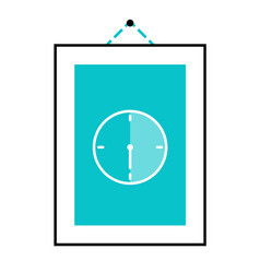 Picture on the wall hanging half hour icon vector