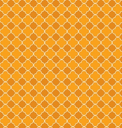 Quatrefoil orange vector image