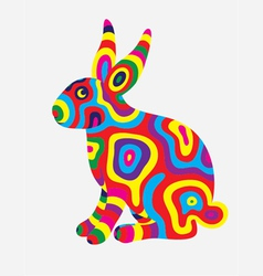 Rabbit colorfully vector