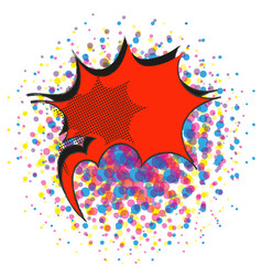 Red explosive comic pop art speech bubble vector