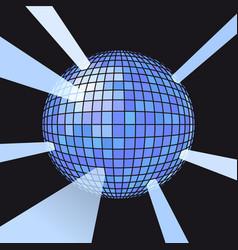Sphere disco ball vector