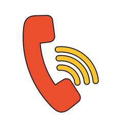 Telephone call center symbol vector