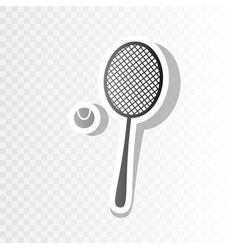 Tennis racquet sign new year blackish vector