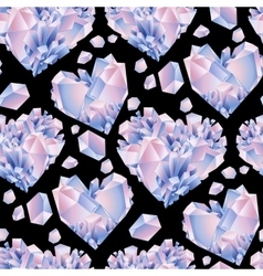 Watercolor crystal pattern vector