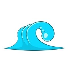High ocean wave icon cartoon style vector