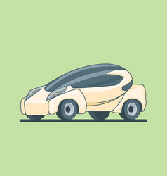 conceptual electric car design template vector image