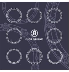 Circle elements vector