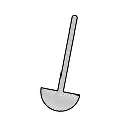 kitchen soup spoon isolated icon vector image