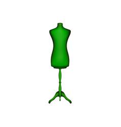 vintage dress form in green design vector image