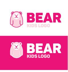 Bear logo for kid and children vector