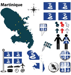 Martinique map vector