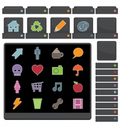 web buttons black vector image