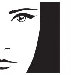 Woman's portrait vector