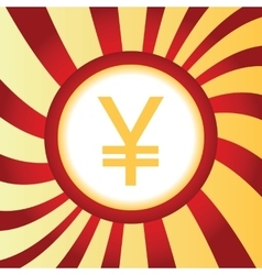 Yen abstract icon vector