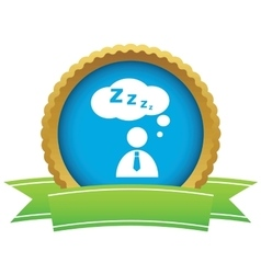 Sleeping person certificate icon vector