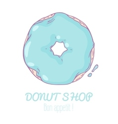 Hand drawn donut isolated sweet pastry doodle vector