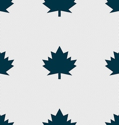 Maple leaf icon seamless abstract background with vector