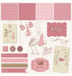 Scrapbook vintage design vector