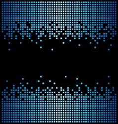 Blue pixel background and black copy space vector image