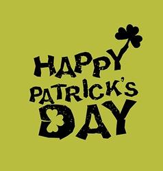 Happy patricks day logo for holiday in ireland vector