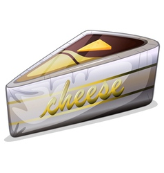 A cheese in a metallic container vector