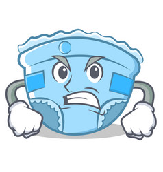 angry baby diaper character cartoon vector image vector image