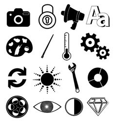 Application utility icons set vector image vector image
