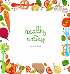 Background with bright healthy vegetables vector image