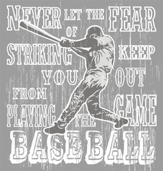 baseball fear strike vector image