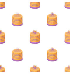 bicolor cake icon in cartoon style isolated on vector image vector image