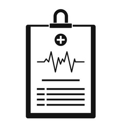 Cardiogram on tablet icon simple style vector