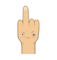 Cartoon middle finger vector