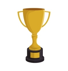 cartoon trophy champion baseball icon vector image