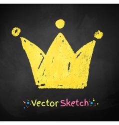 Childlike drawing of crown vector