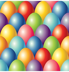 colorful eggs easter seamless background vector image vector image