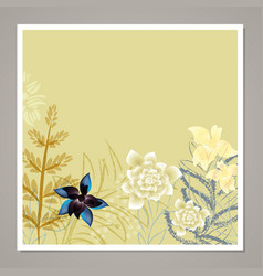 creative universal floral card vector image