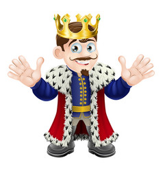 cute king man vector image vector image