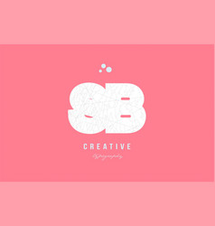Design of alphabet letter logo combination vector