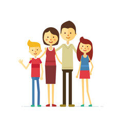 Family portrait at the simple style vector