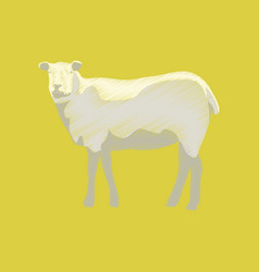 flat shading style icon sheep vector image vector image