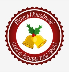Happy merry christmas design vector